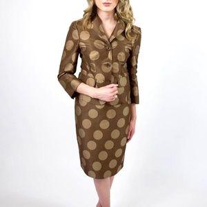 MOSCHINO CHEAP & CHIC polka dot skirt suit